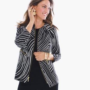 Chico's Travelers Zebra-Print Structured Jacket